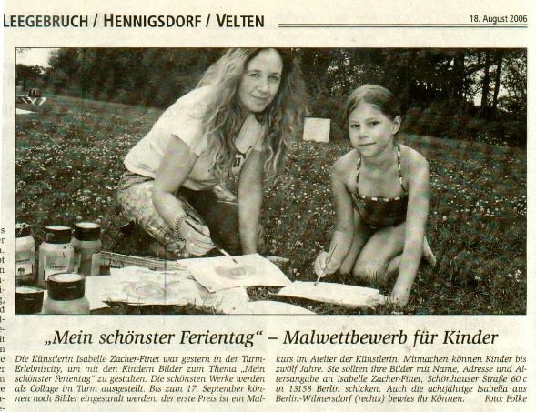 Malwettbewerb Erlebniscity TURM in Oranienburg